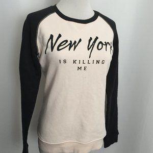 ZOE KARSSEN 'NEW YORK IS KILLING ME' Print Shirt